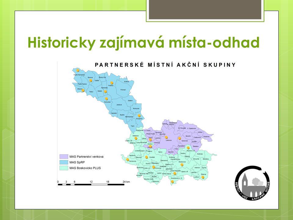 Historicky zajímavá místa-odhad