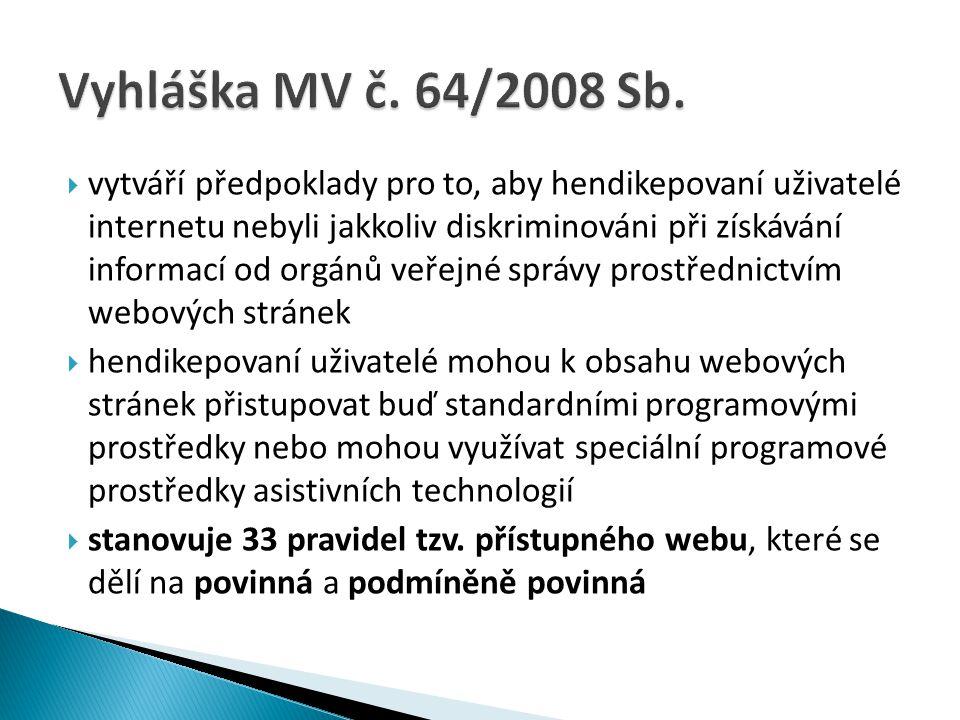 Vyhláška MV č. 64/2008 Sb.
