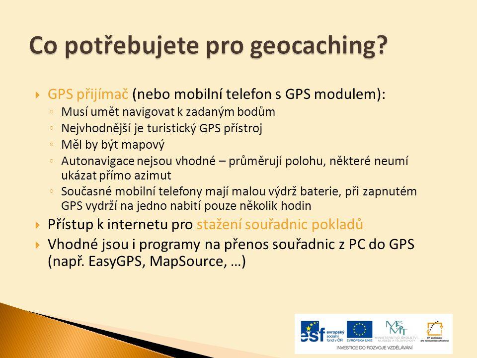 Co potřebujete pro geocaching