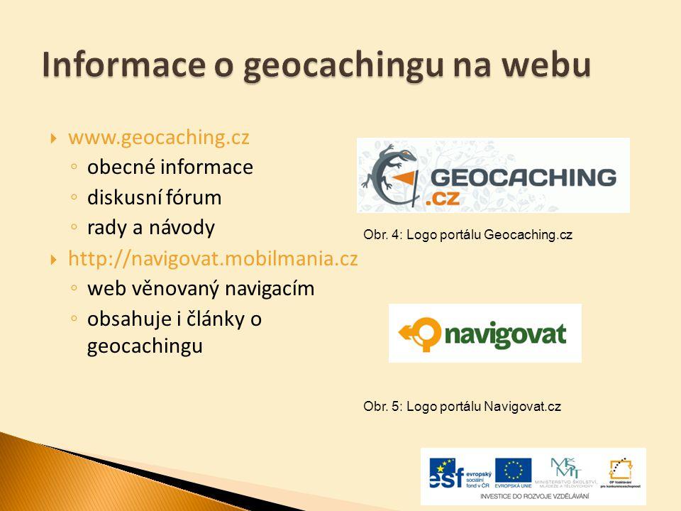 Informace o geocachingu na webu
