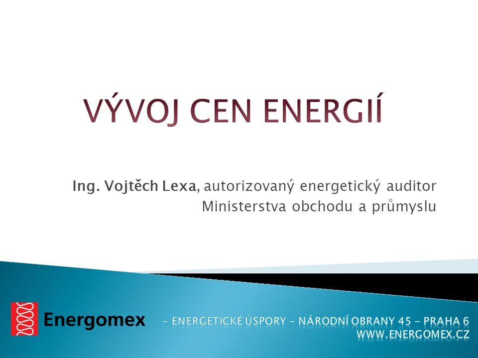 VÝVOJ CEN ENERGIÍ Ing. Vojtěch Lexa, autorizovaný energetický auditor