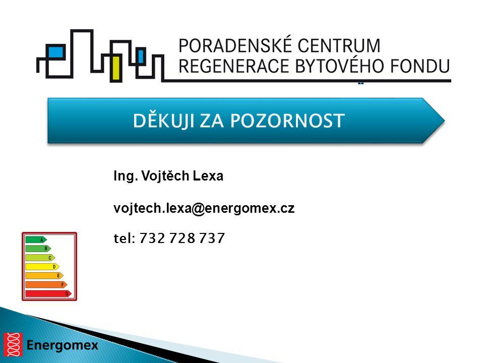 DĚKUJI ZA POZORNOST Ing. Vojtěch Lexa vojtech.lexa@energomex.cz