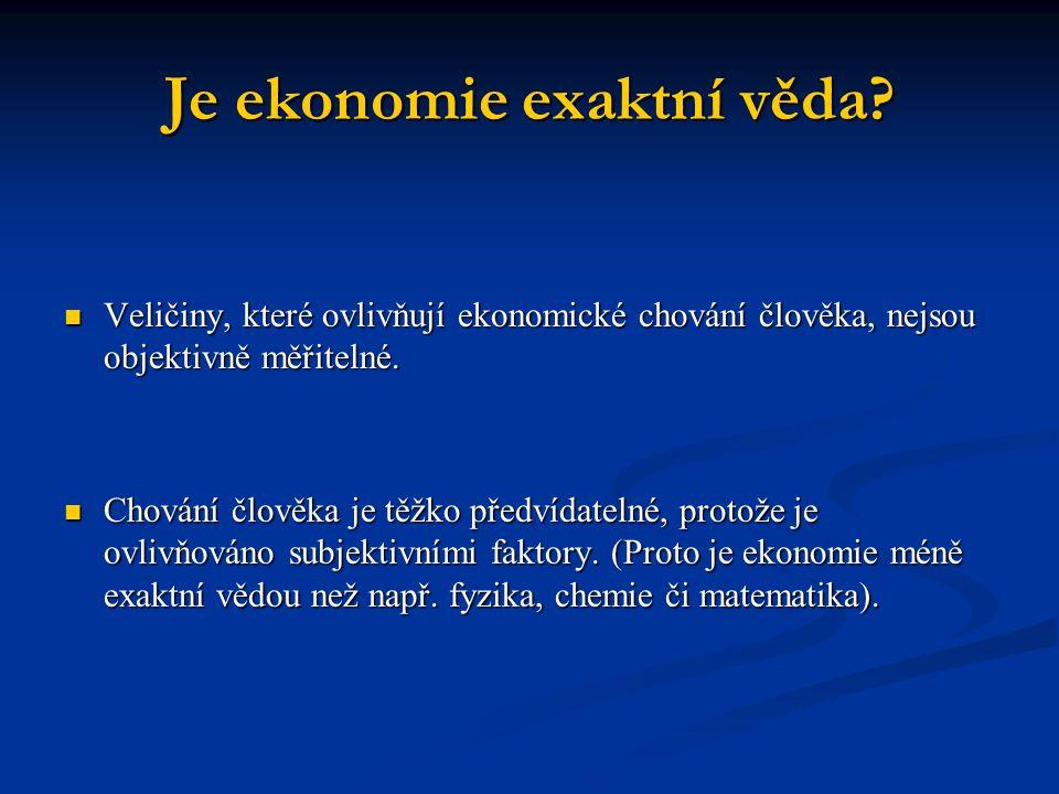 Je ekonomie exaktní věda