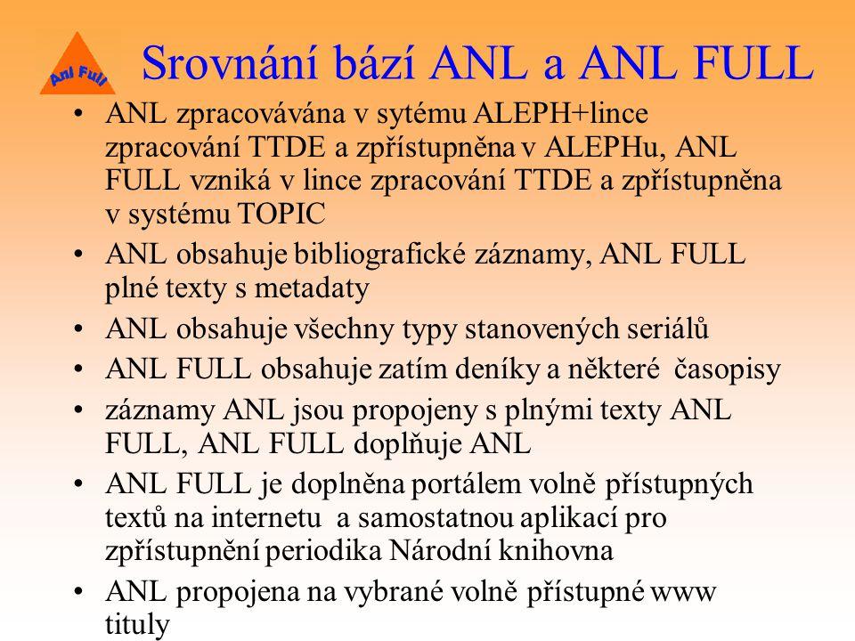 Srovnání bází ANL a ANL FULL