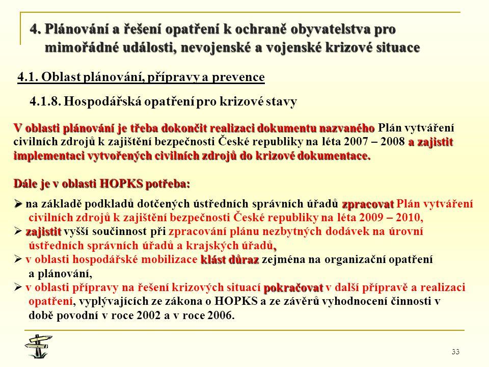 4. Plánování a řešení opatření k ochraně obyvatelstva pro