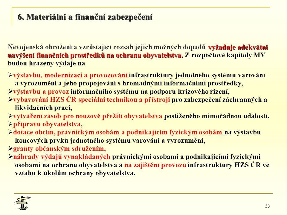 6. Materiální a finanční zabezpečení