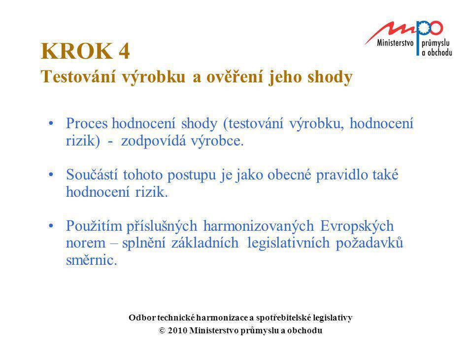 KROK 4 Testování výrobku a ověření jeho shody