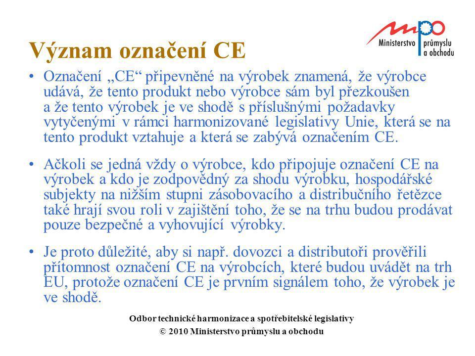 Význam označení CE