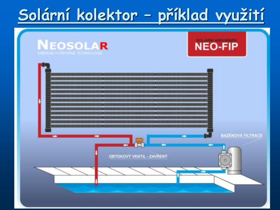Solární kolektor – příklad využití