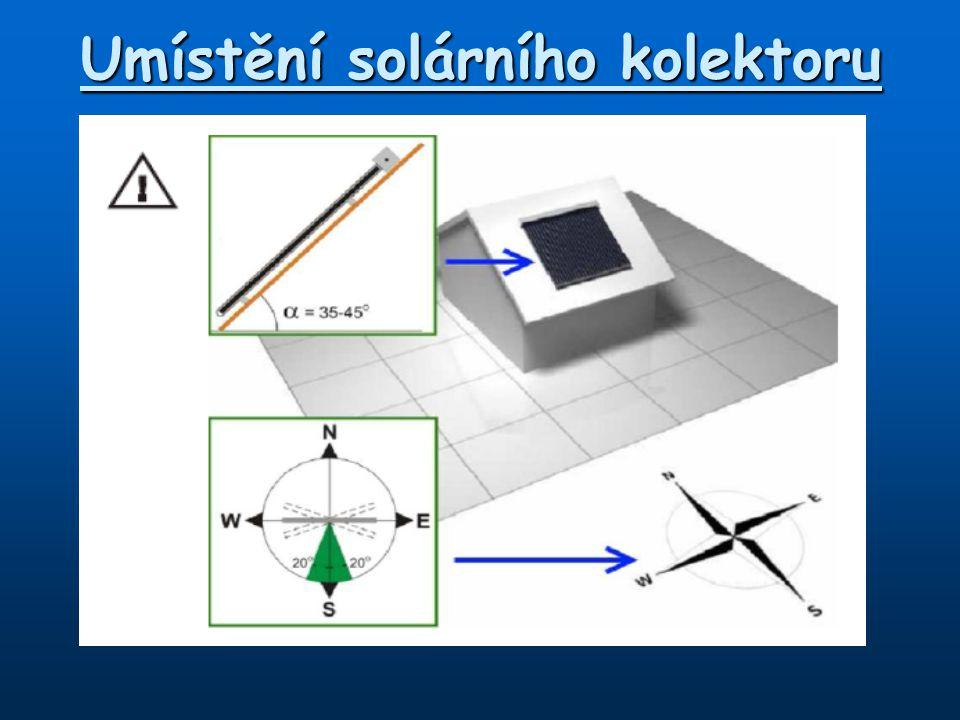 Umístění solárního kolektoru