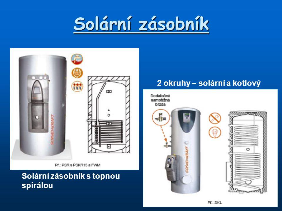 Solární zásobník 2 okruhy – solární a kotlový