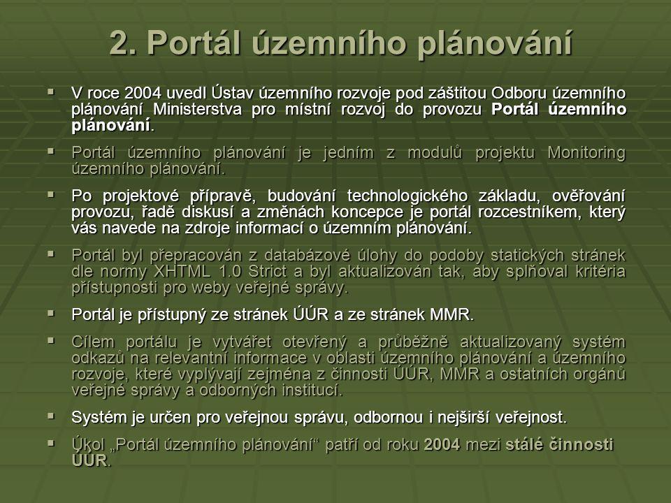 2. Portál územního plánování