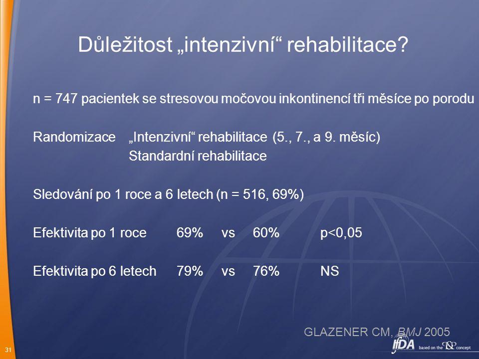 """Důležitost """"intenzivní rehabilitace"""