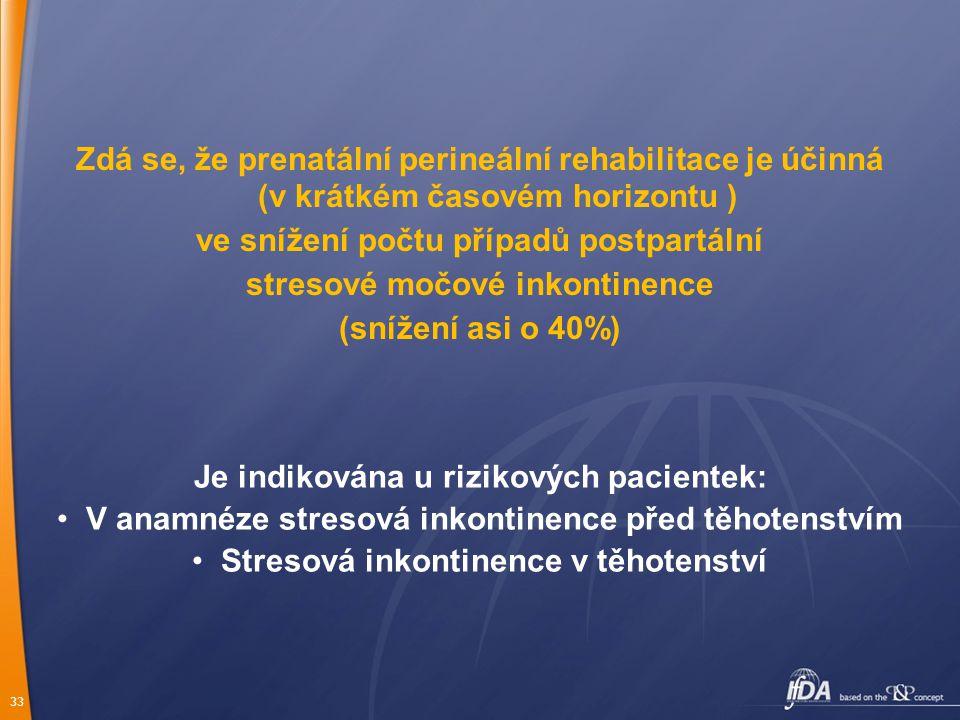 ve snížení počtu případů postpartální stresové močové inkontinence