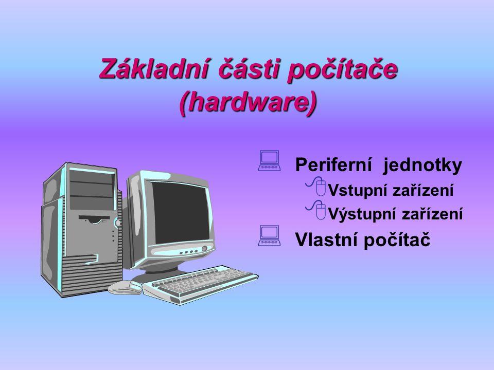 Základní části počítače (hardware)