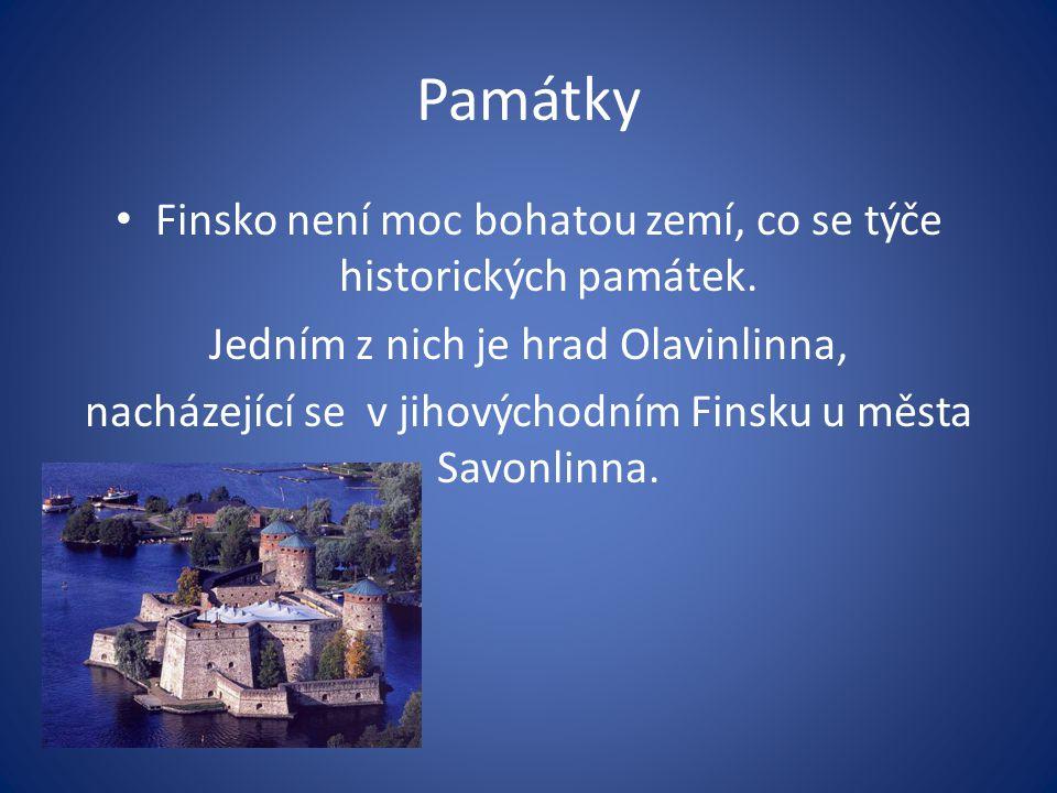 Památky Finsko není moc bohatou zemí, co se týče historických památek.