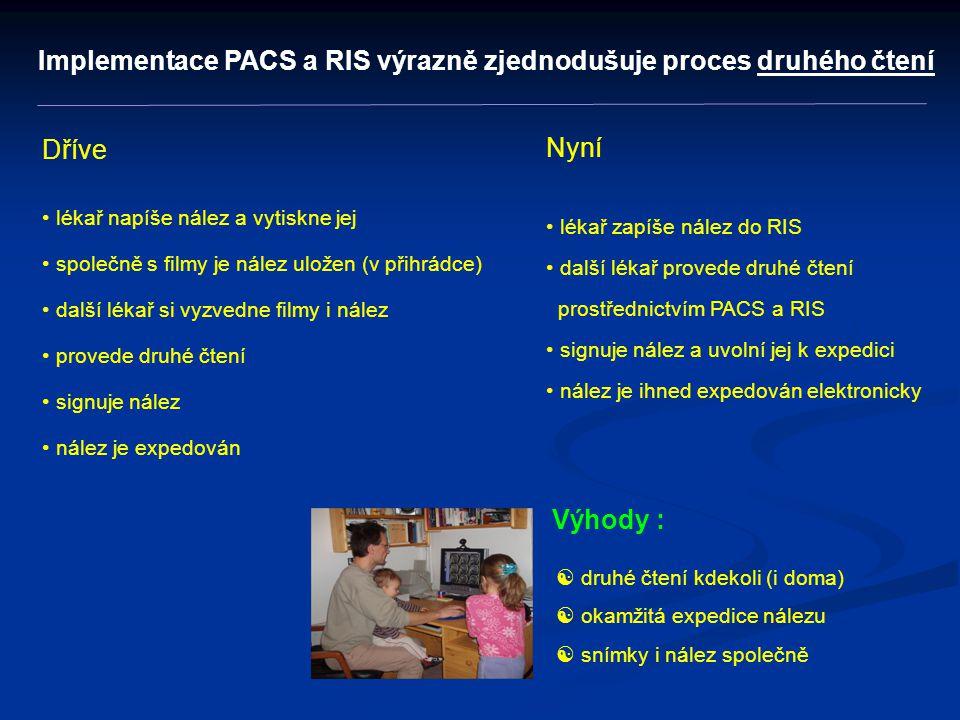 Implementace PACS a RIS výrazně zjednodušuje proces druhého čtení