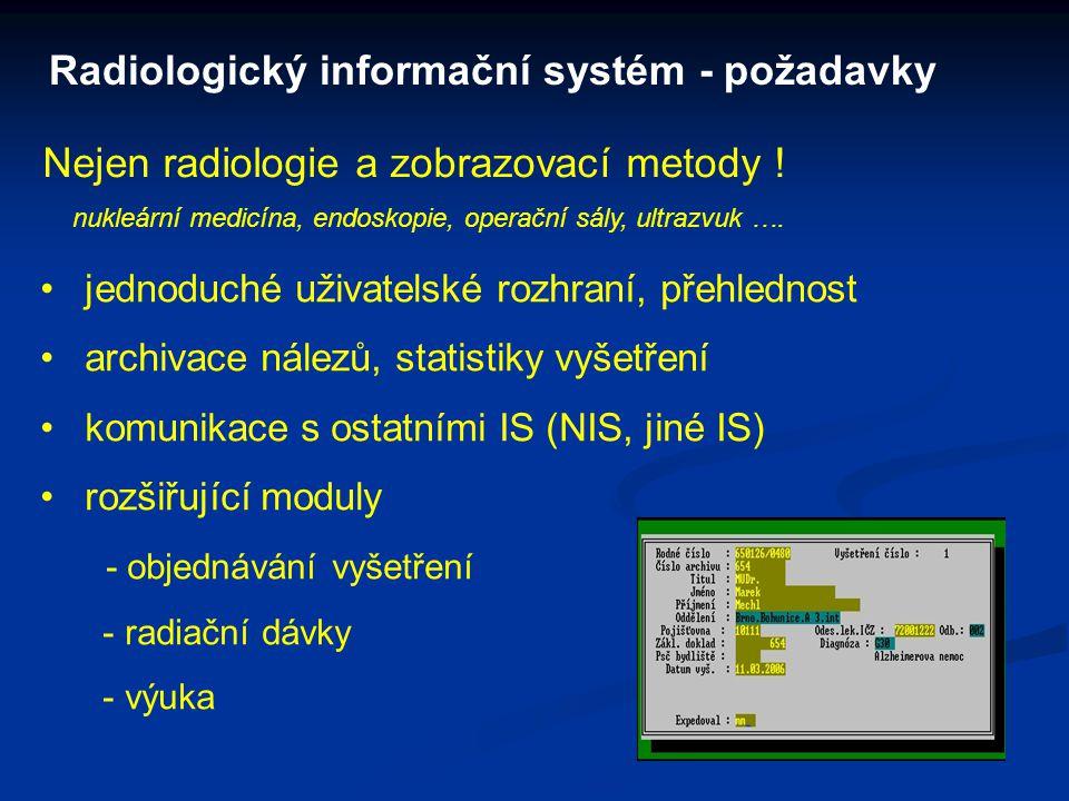 Radiologický informační systém - požadavky