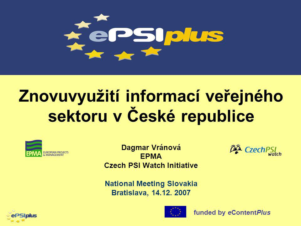 Znovuvyužití informací veřejného sektoru v České republice