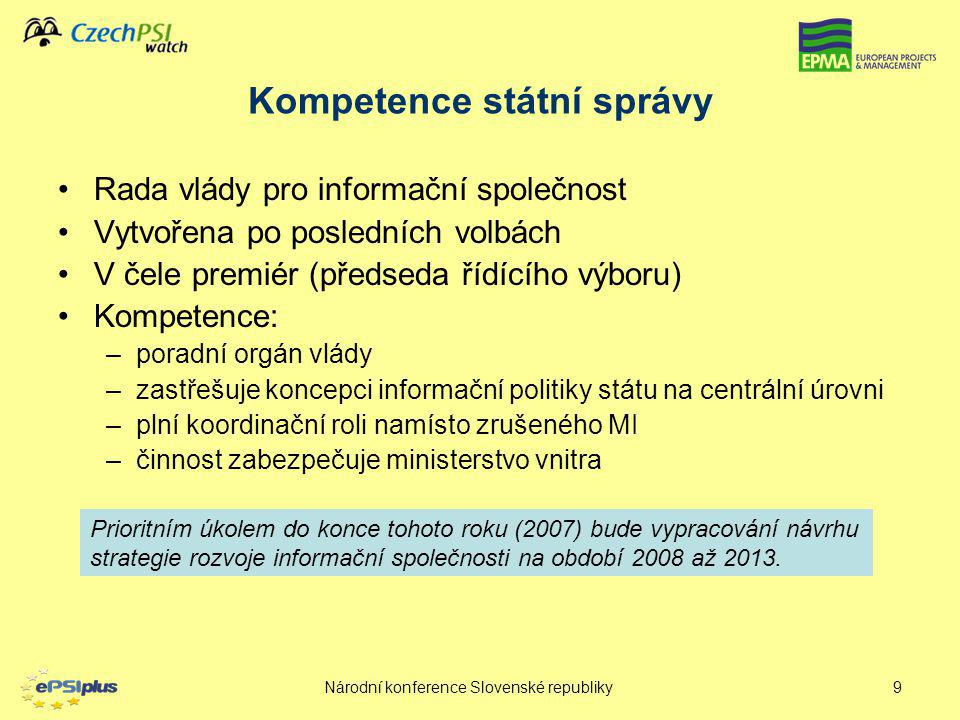 Kompetence státní správy