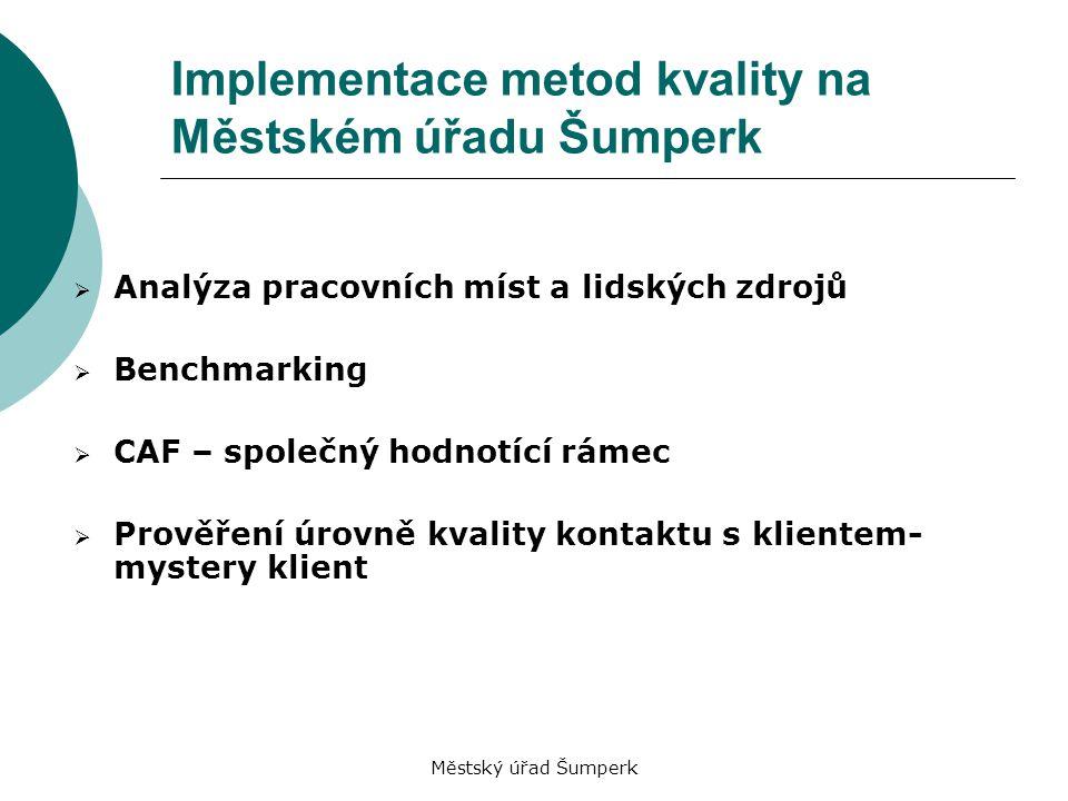 Implementace metod kvality na Městském úřadu Šumperk