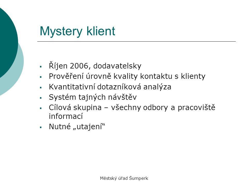 Mystery klient Říjen 2006, dodavatelsky