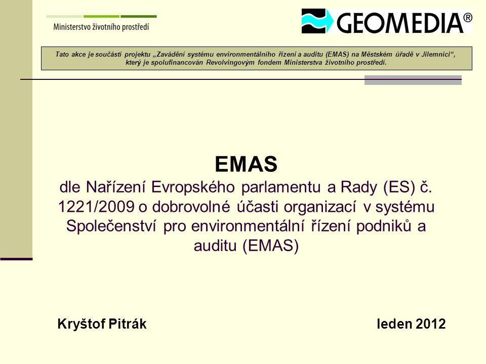 """Tato akce je součástí projektu """"Zavádění systému environmentálního řízení a auditu (EMAS) na Městském úřadě v Jilemnici ,"""