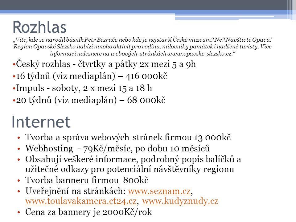 Rozhlas Internet Český rozhlas - čtvrtky a pátky 2x mezi 5 a 9h