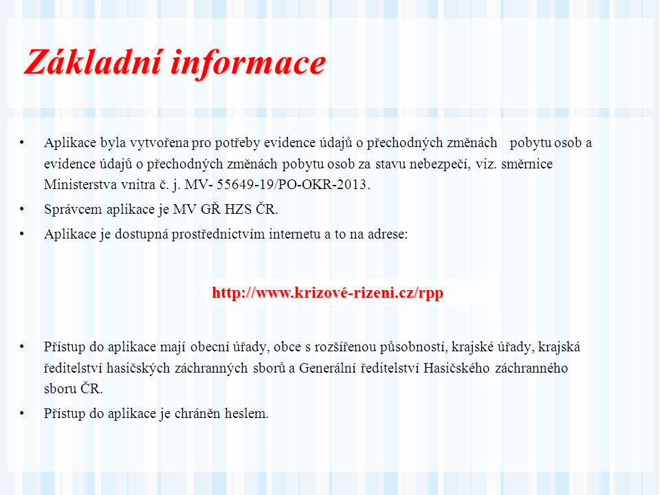 Základní informace http://www.krizové-rizeni.cz/rpp