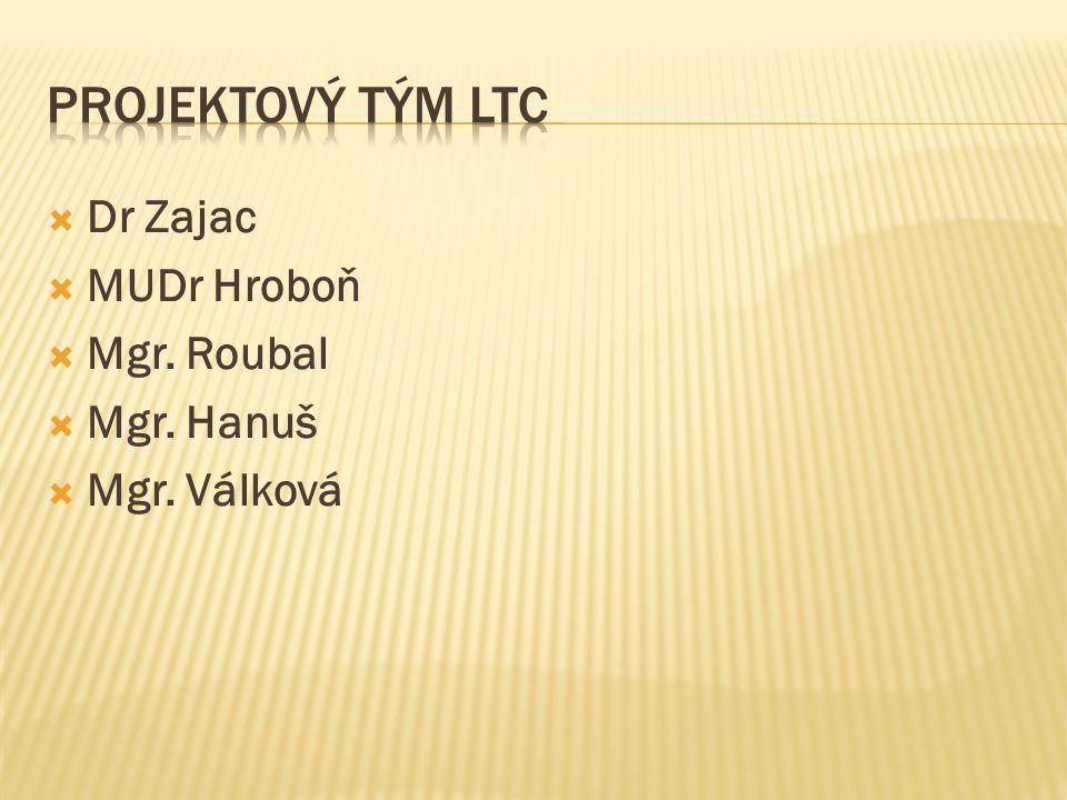 Projektový tým LTC Dr Zajac MUDr Hroboň Mgr. Roubal Mgr. Hanuš