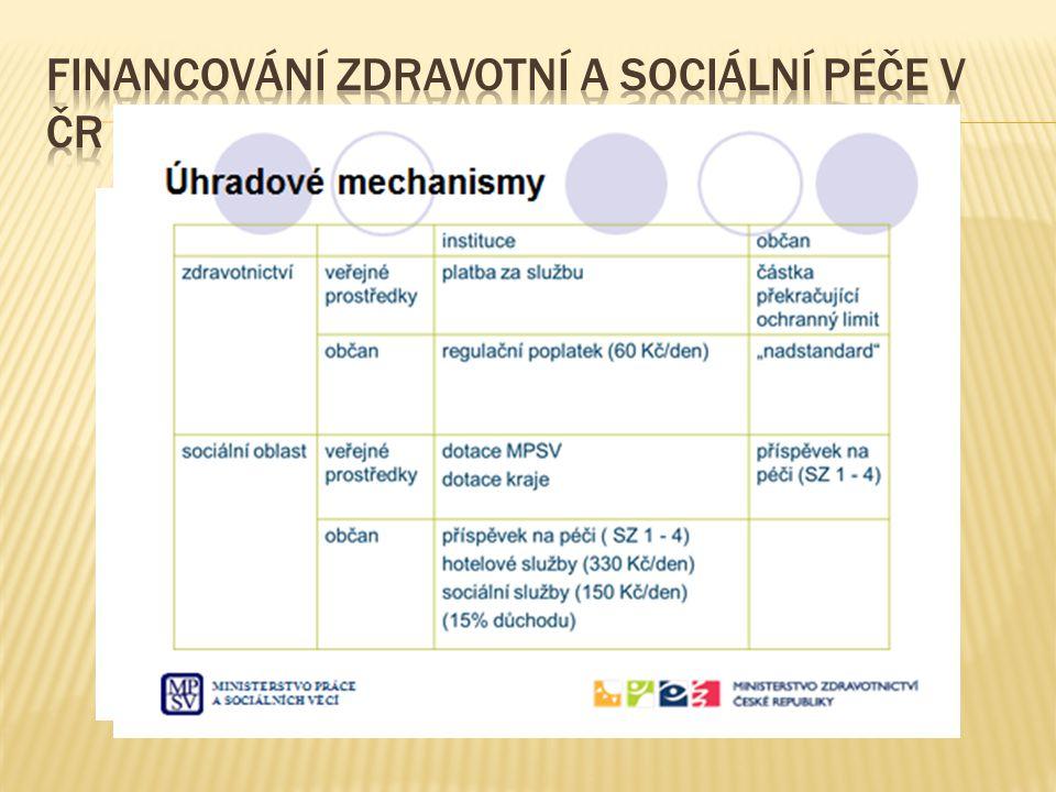 Financování zdravotní a sociální péče v ČR
