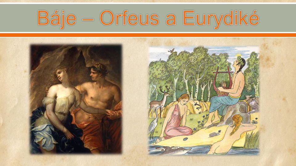 Báje – Orfeus a Eurydiké
