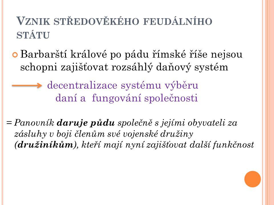 Vznik středověkého feudálního státu