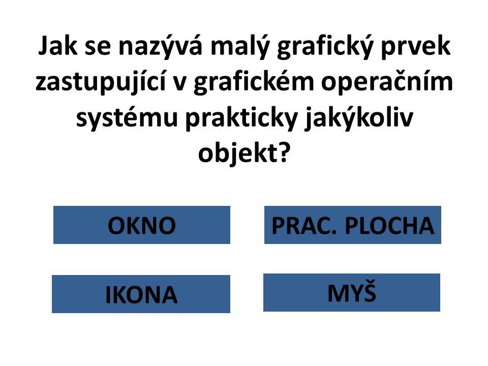 Jak se nazývá malý grafický prvek zastupující v grafickém operačním systému prakticky jakýkoliv objekt