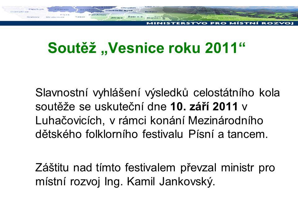 """Soutěž """"Vesnice roku 2011"""
