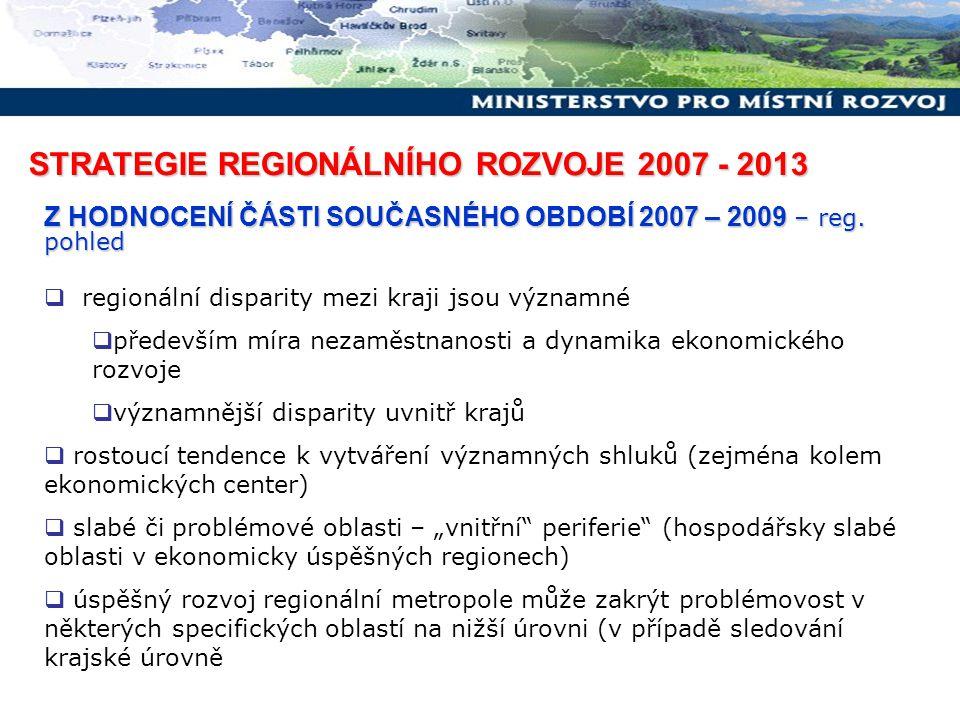 STRATEGIE REGIONÁLNÍHO ROZVOJE 2007 - 2013