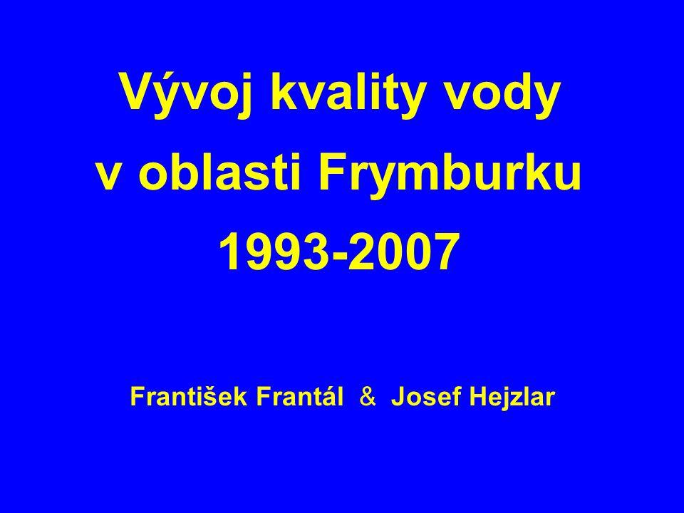 Vývoj kvality vody v oblasti Frymburku 1993-2007