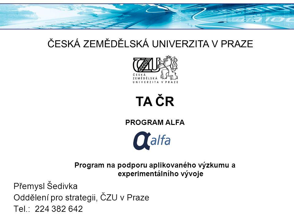 Program na podporu aplikovaného výzkumu a experimentálního vývoje