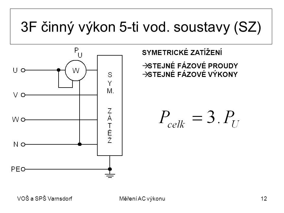 3F činný výkon 5-ti vod. soustavy (SZ)
