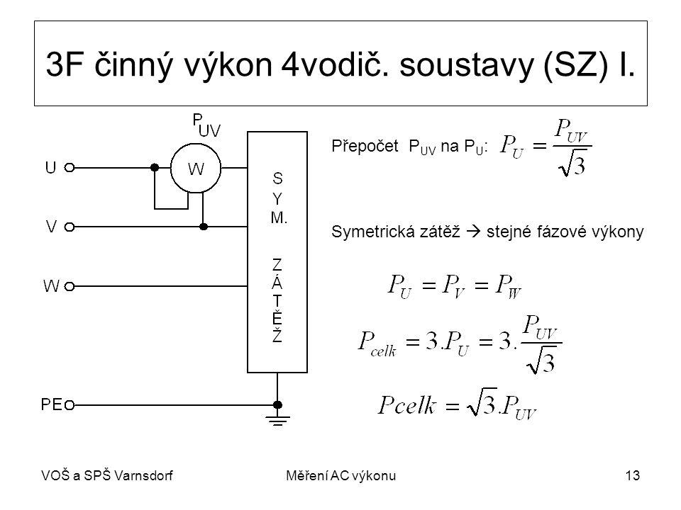 3F činný výkon 4vodič. soustavy (SZ) I.