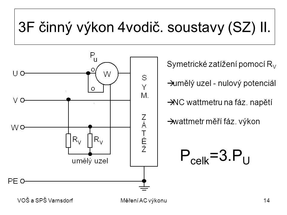 3F činný výkon 4vodič. soustavy (SZ) II.