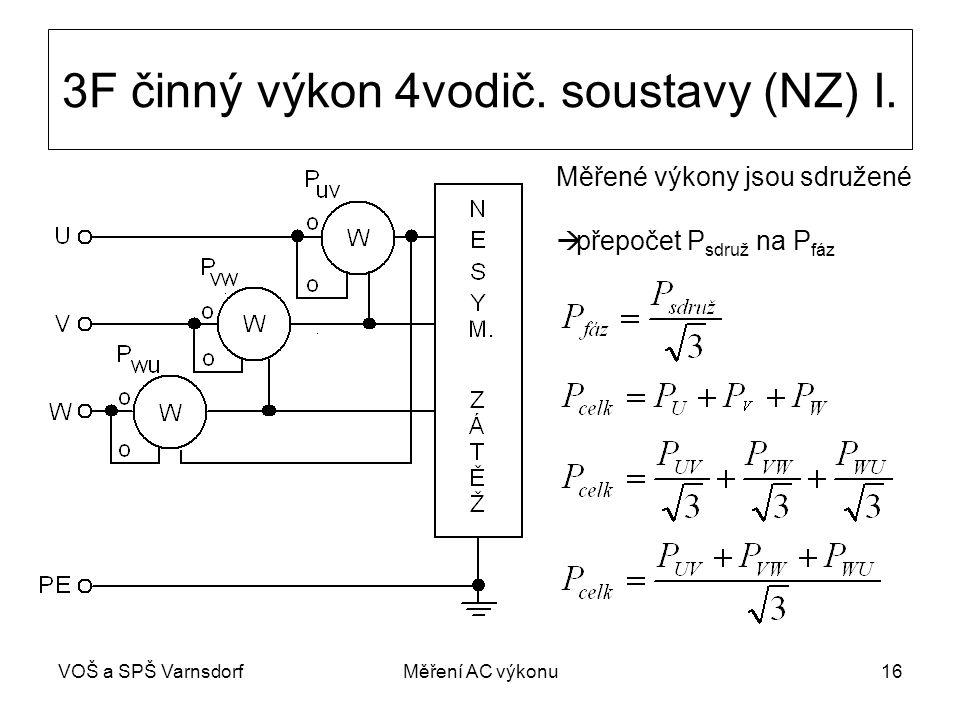 3F činný výkon 4vodič. soustavy (NZ) I.