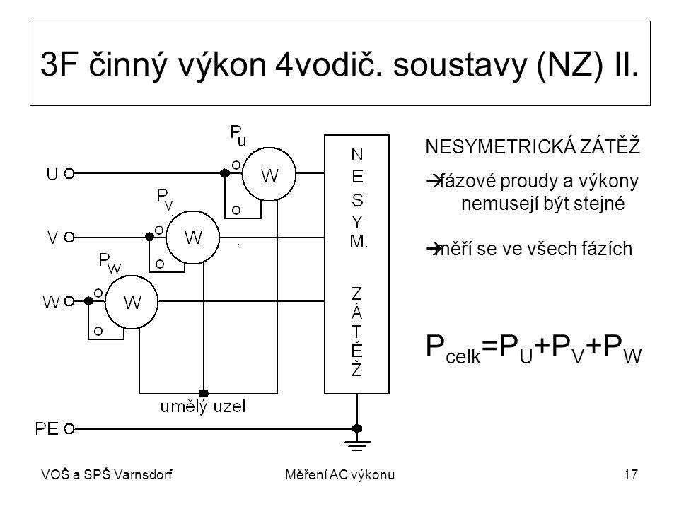 3F činný výkon 4vodič. soustavy (NZ) II.