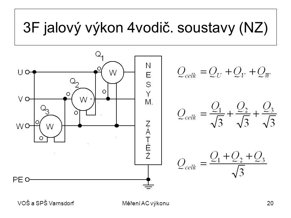 3F jalový výkon 4vodič. soustavy (NZ)