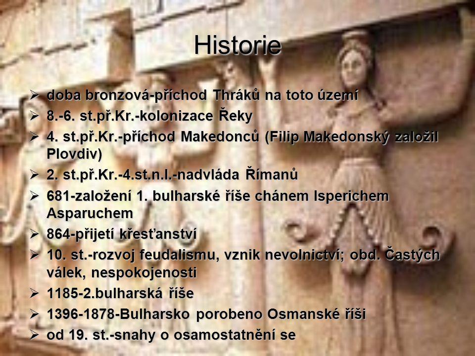 Historie doba bronzová-příchod Thráků na toto území