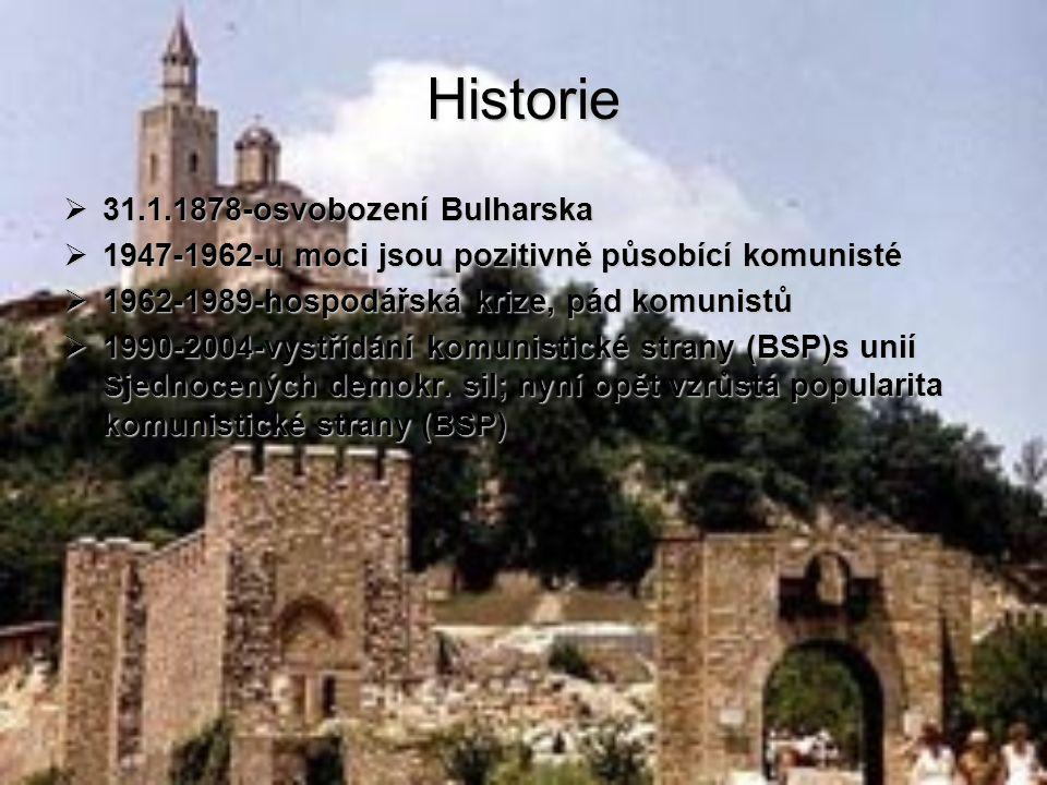 Historie 31.1.1878-osvobození Bulharska