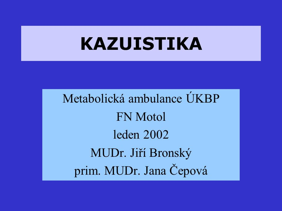 Metabolická ambulance ÚKBP