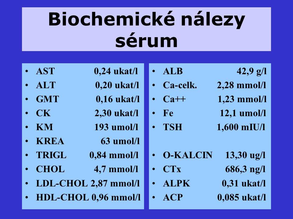Biochemické nálezy sérum
