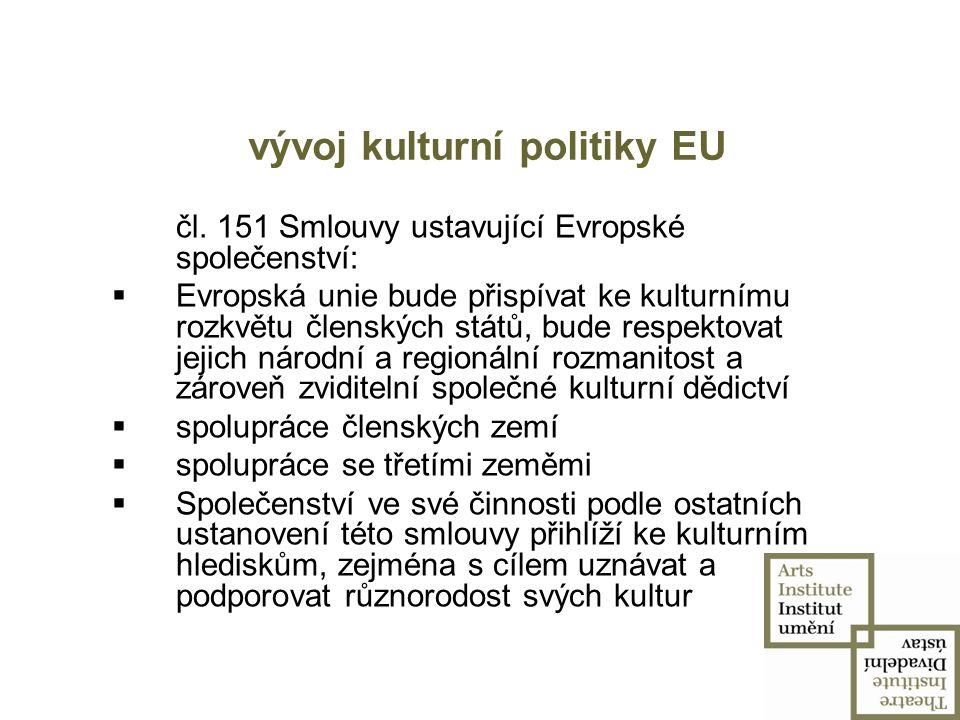 vývoj kulturní politiky EU