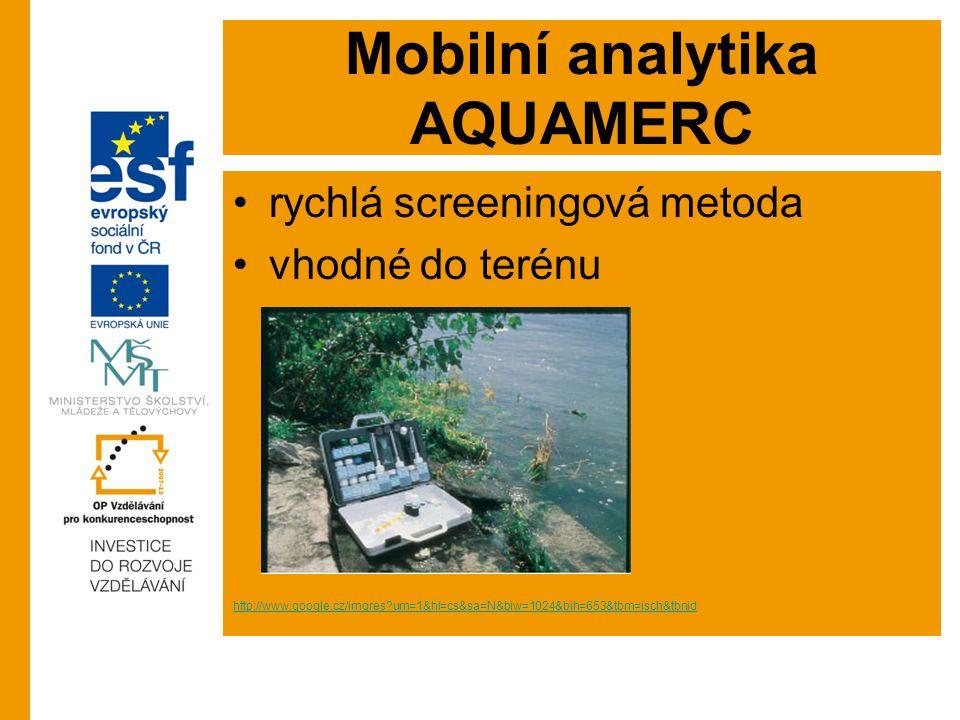 Mobilní analytika AQUAMERC